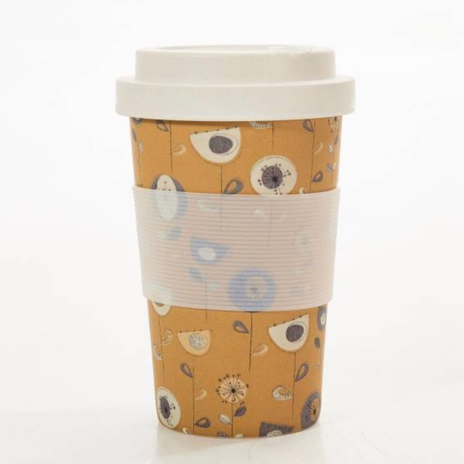1950's Design Reusable Bamboo Cup