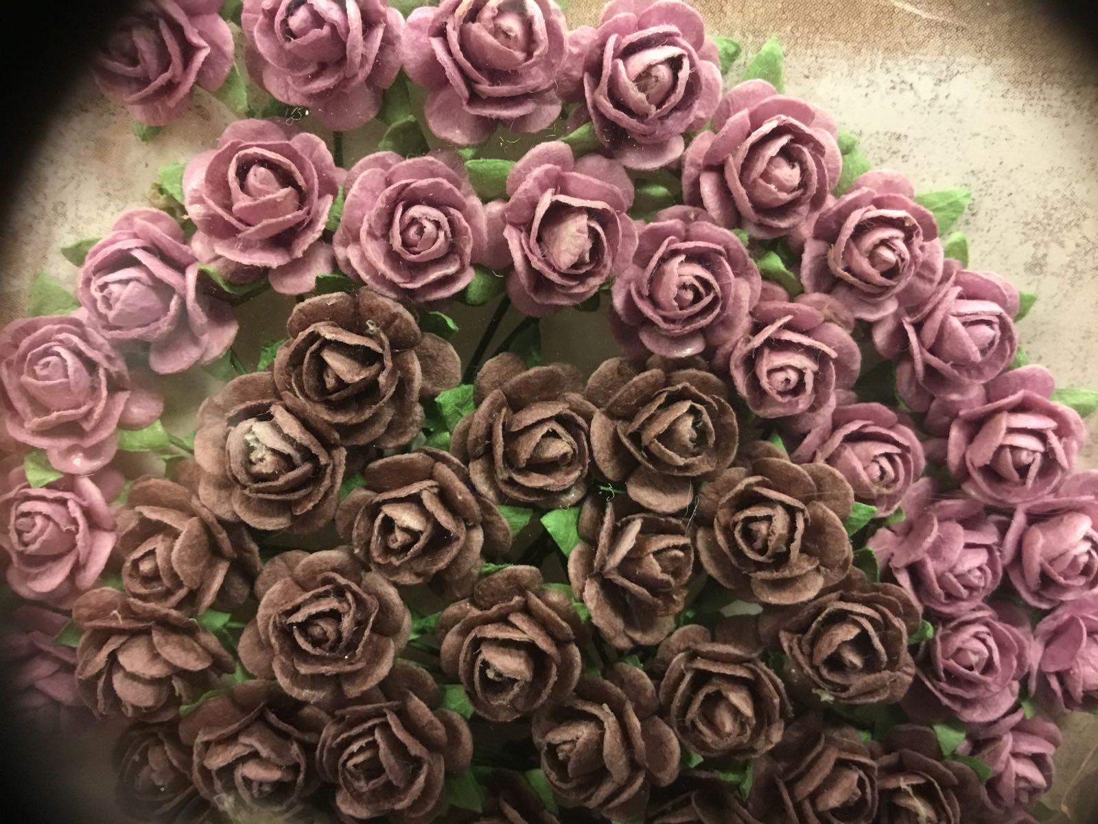 Papirdesign blomst vintage lilla og mørk rosa