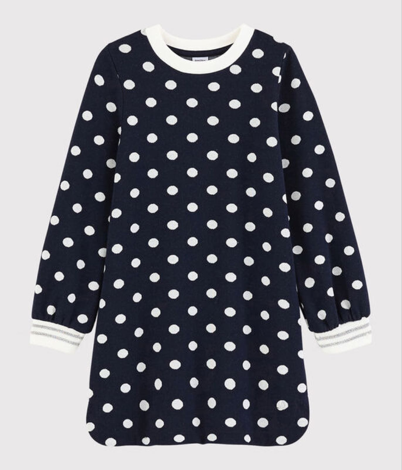 Petit Bateau Navy Spot Knit Dress