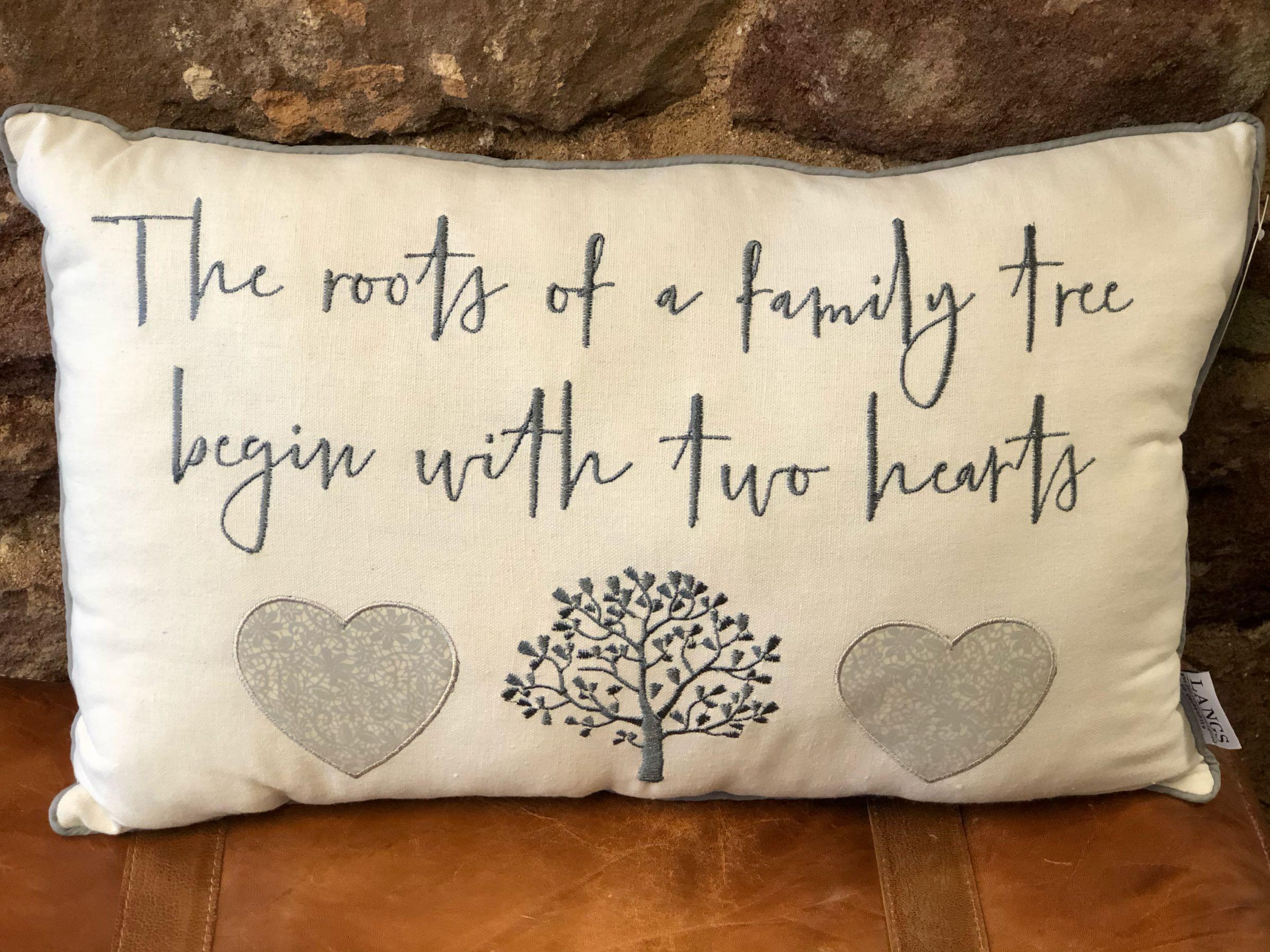 Family tree cushion