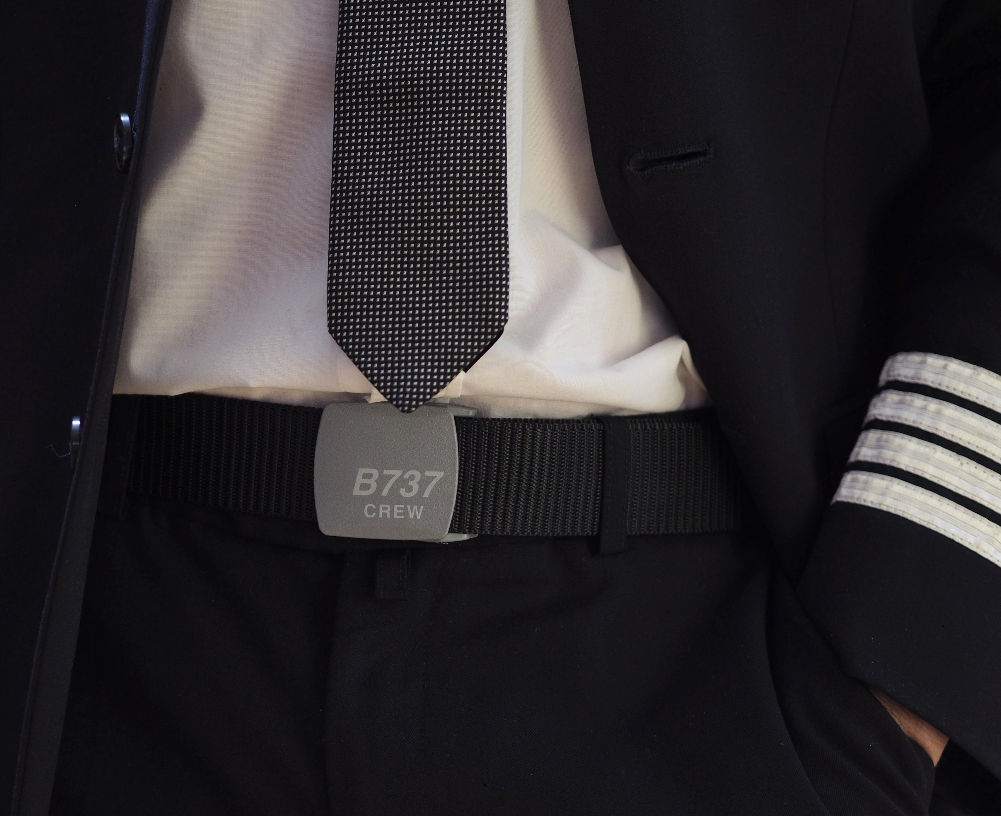 B737 Crew Belt with plastic buckle