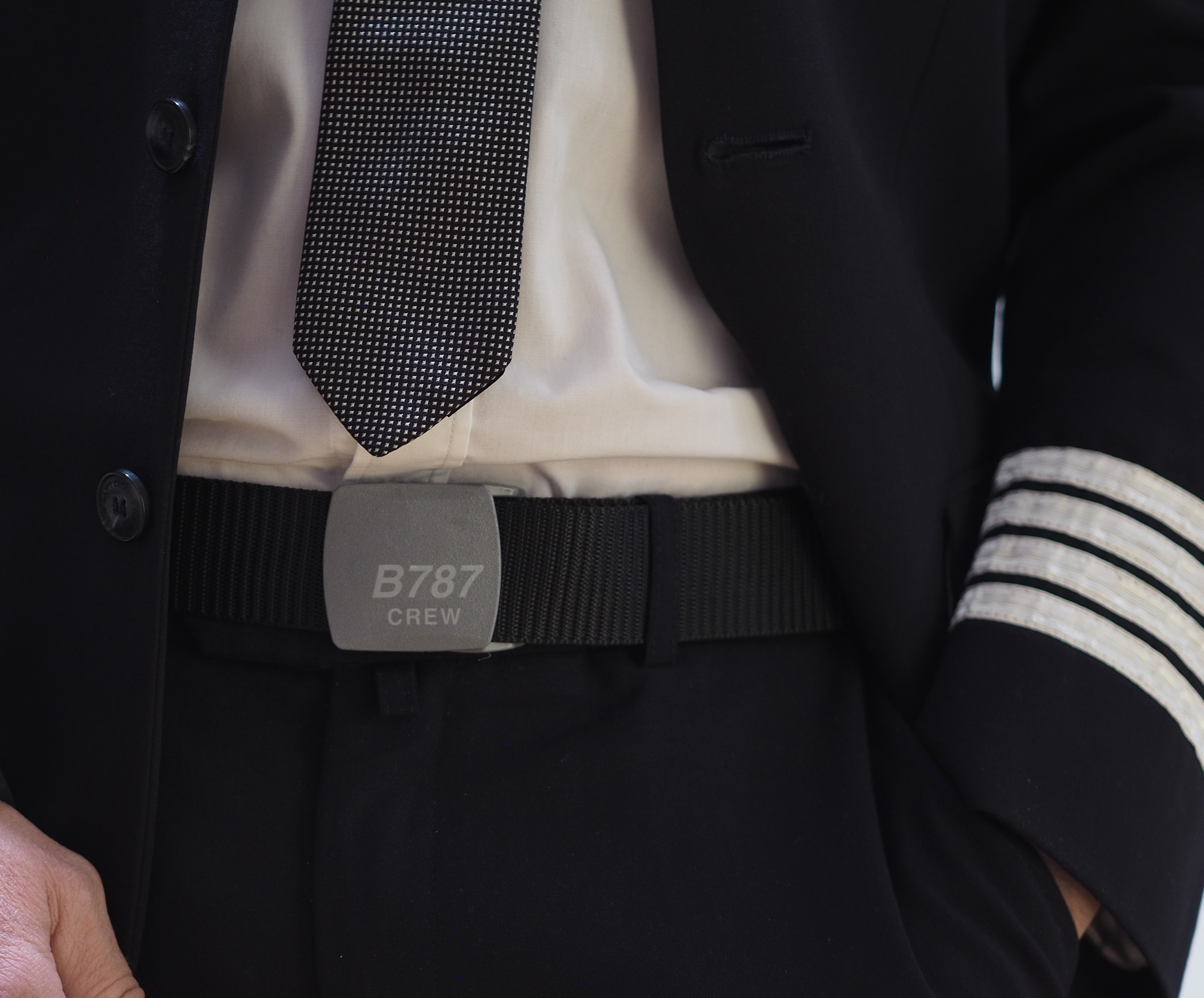 B787 Crew Belt with plastic buckle