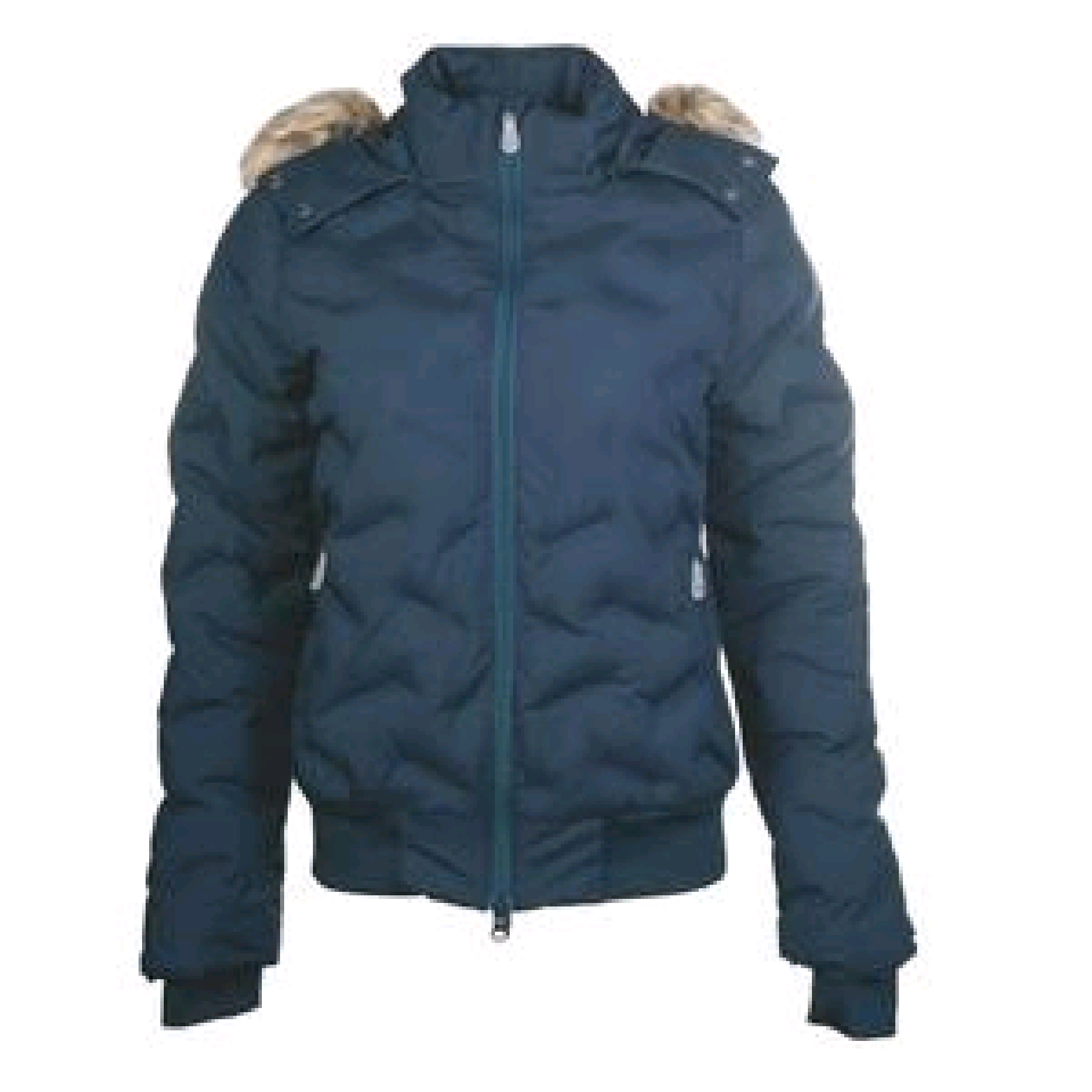 HKM Padded Laserquilt Jacket With Hood