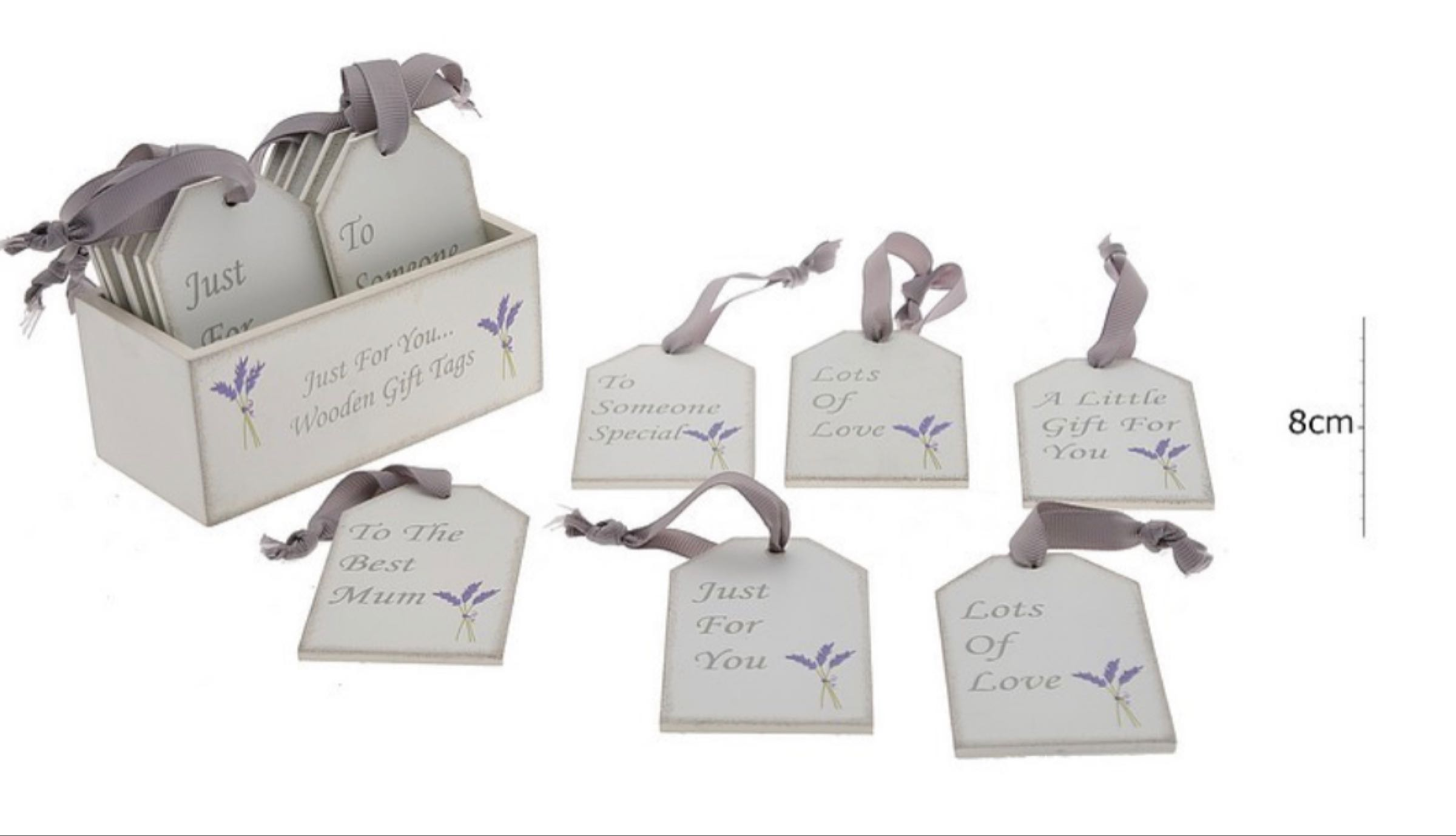 Wooden Lavender Tag (can be personalised) please specify tag choice