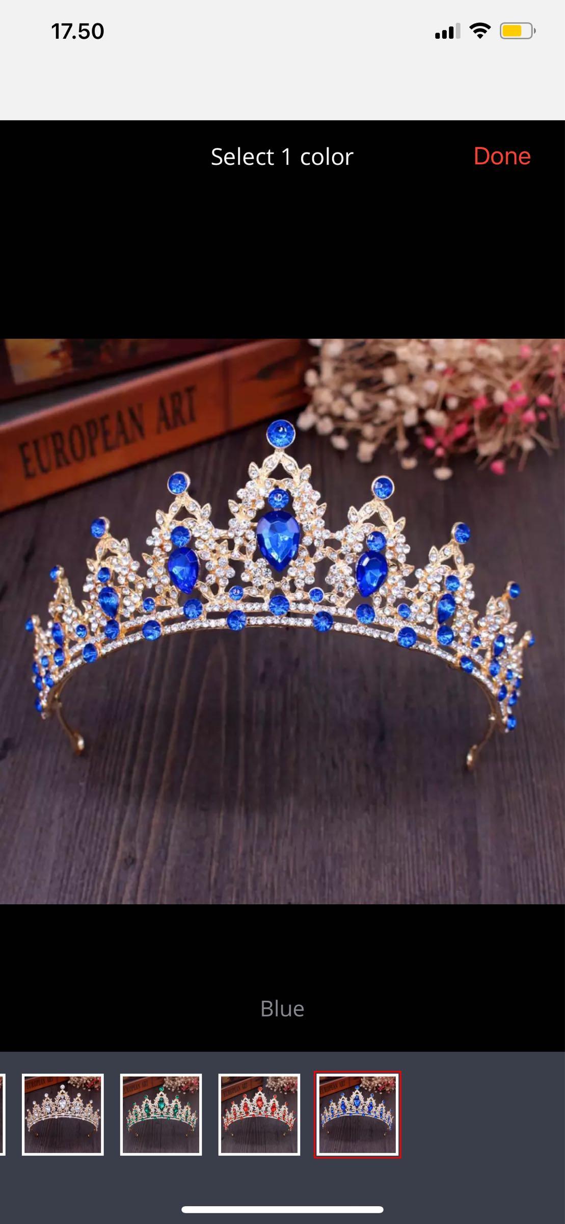 Kruunu, kuningatar sininen