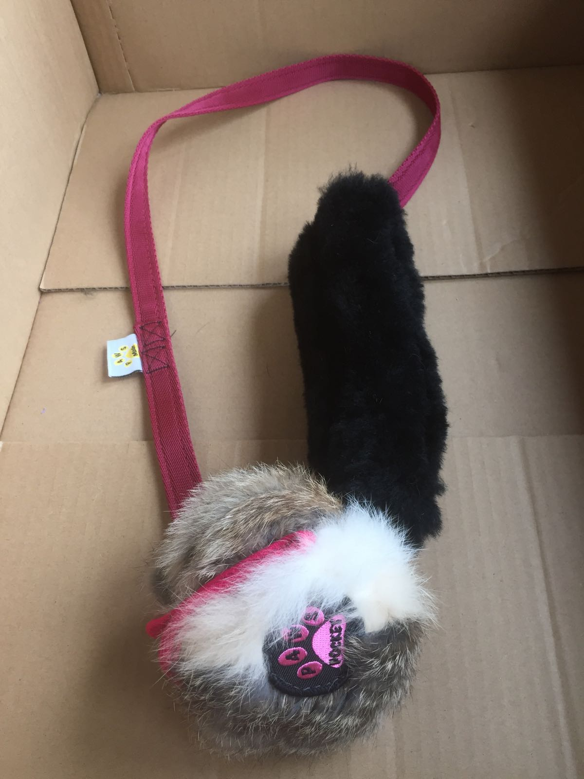 Paws Pocket Rabbit Extra Long Tug with Sheepskin