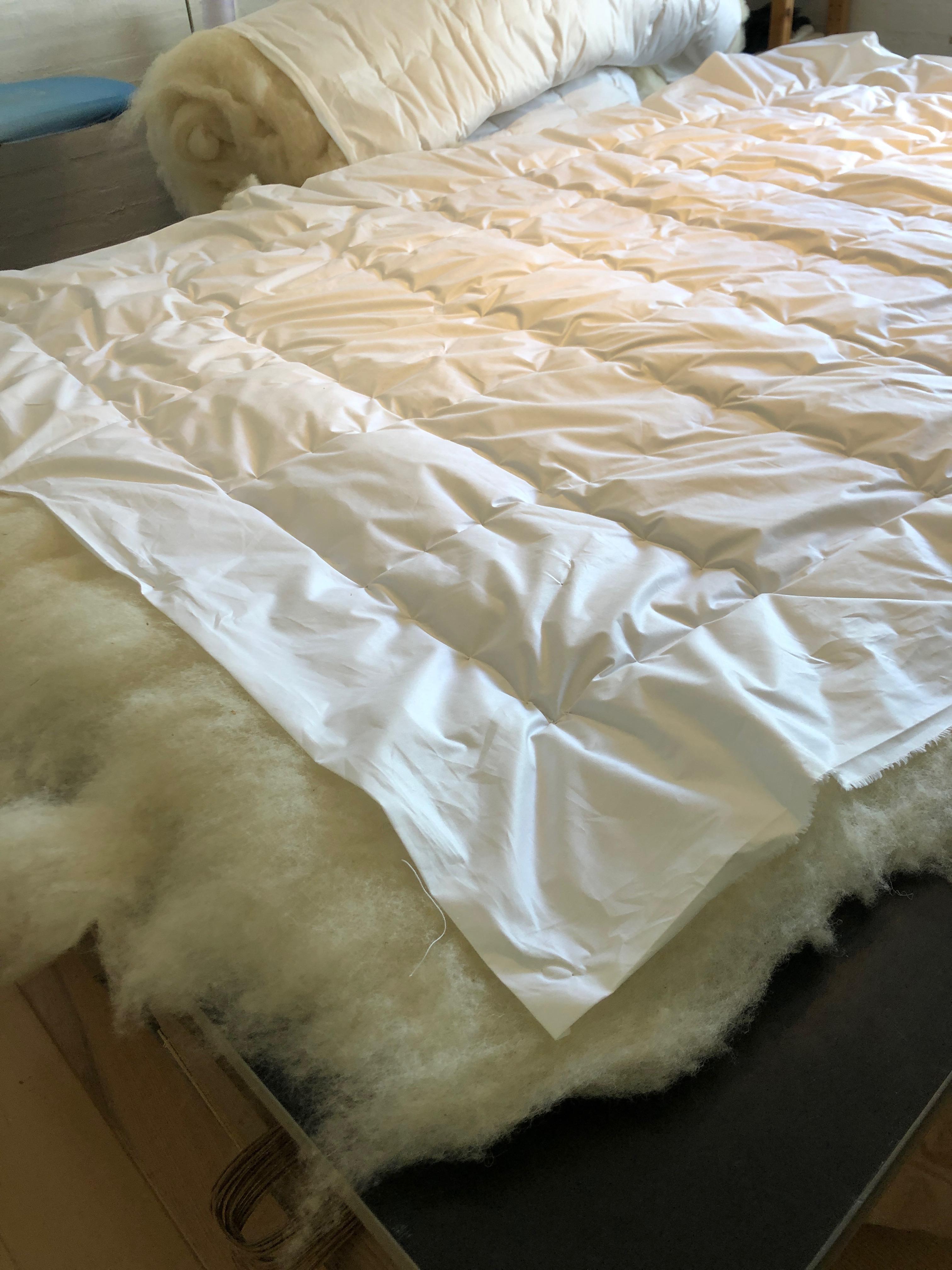 Ulddyne 140 x 200 cm, hvid