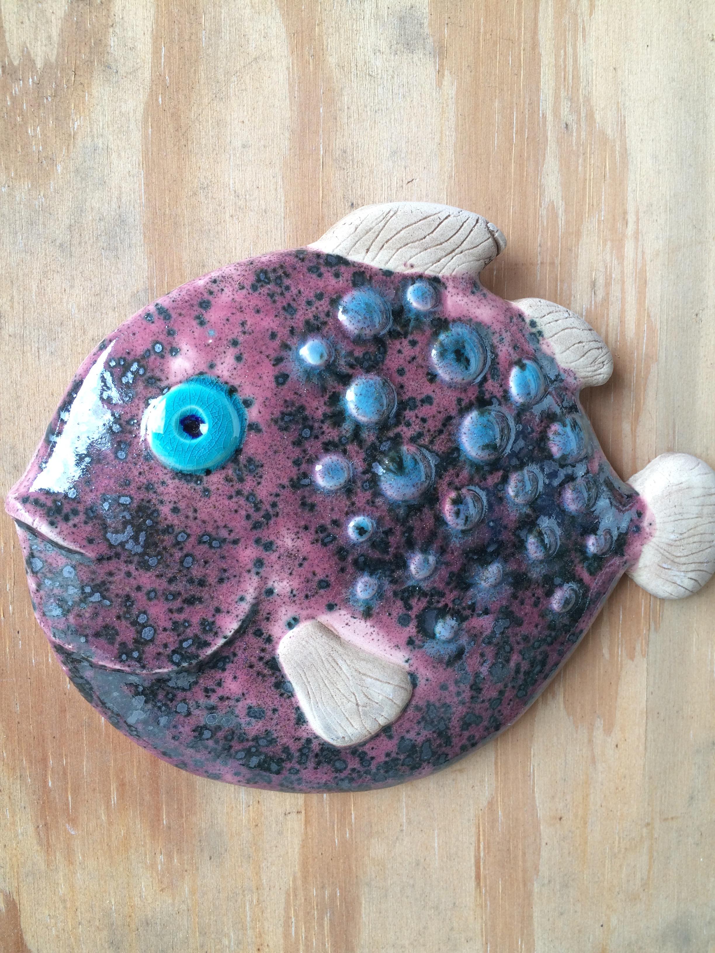 Fisk, rosa kuglefisk. 22 cm
