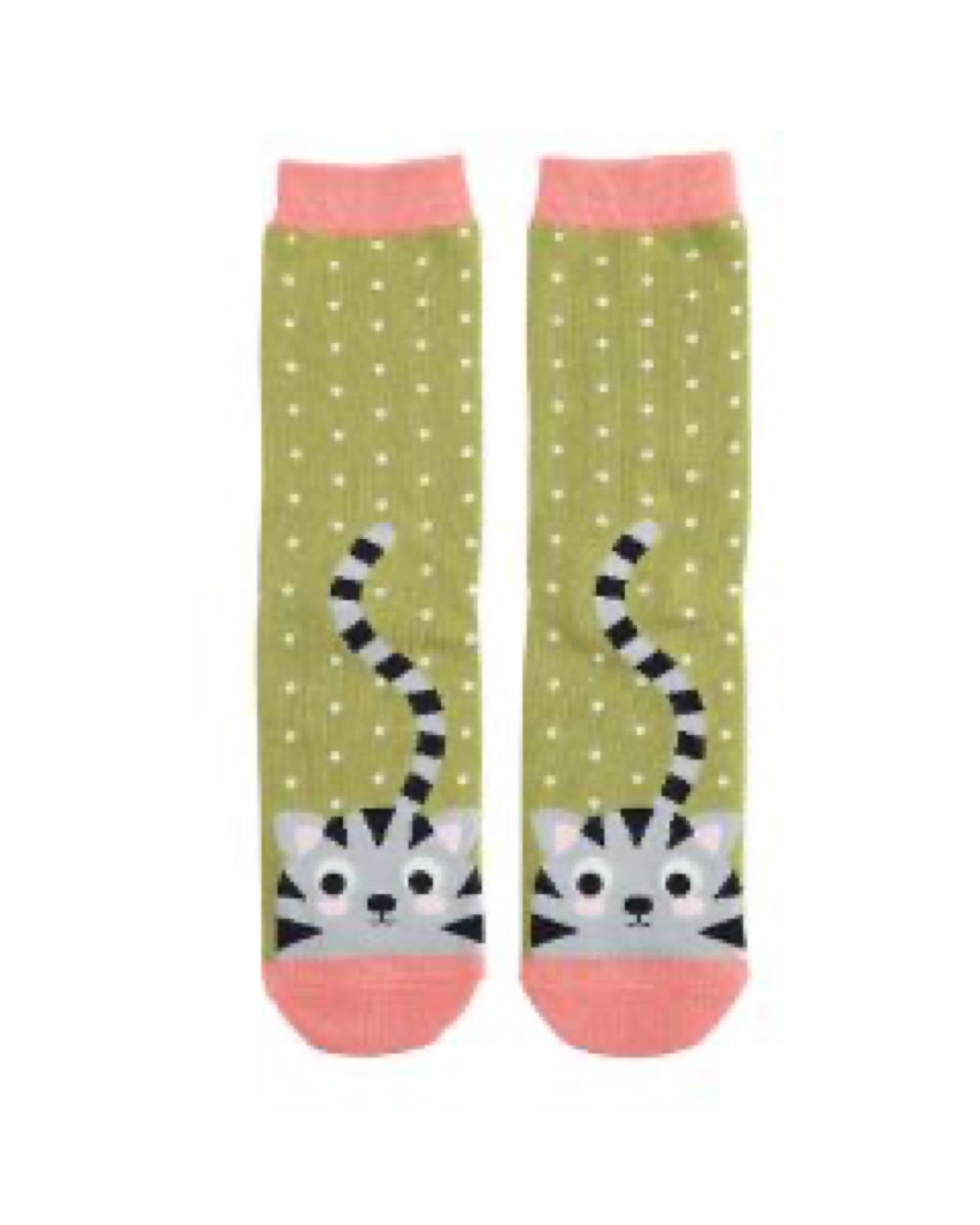 Kitty & Spot Socks Green Socks