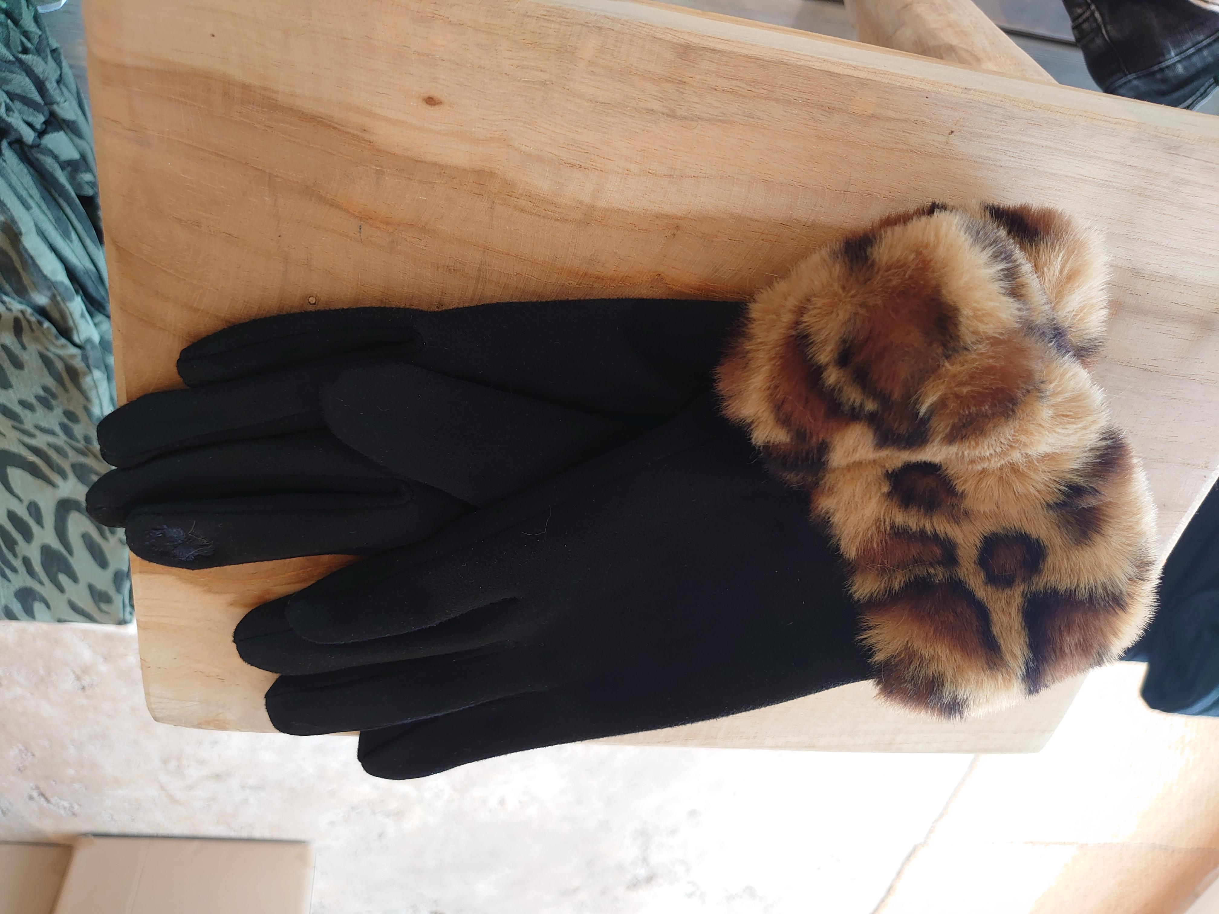 Handske fake päls Leo