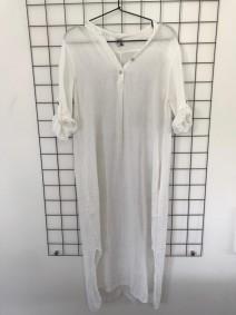 Skjortklänning vit