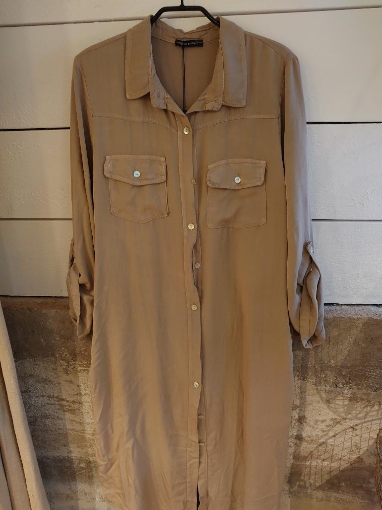Lång skjortklänning