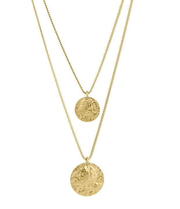 Rivoli double chain necklace