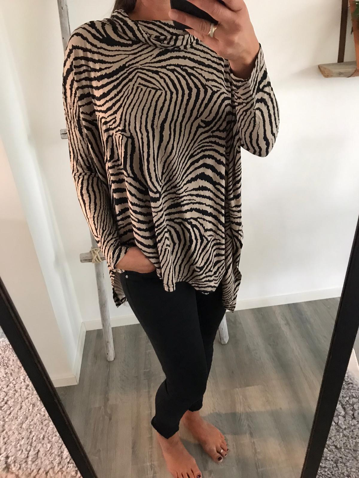Oversize topp zebra