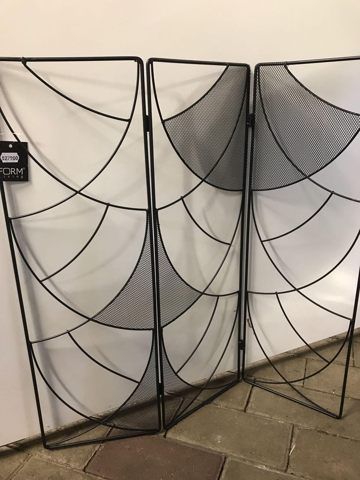 Fönsterskydd - artdeco, svart metall