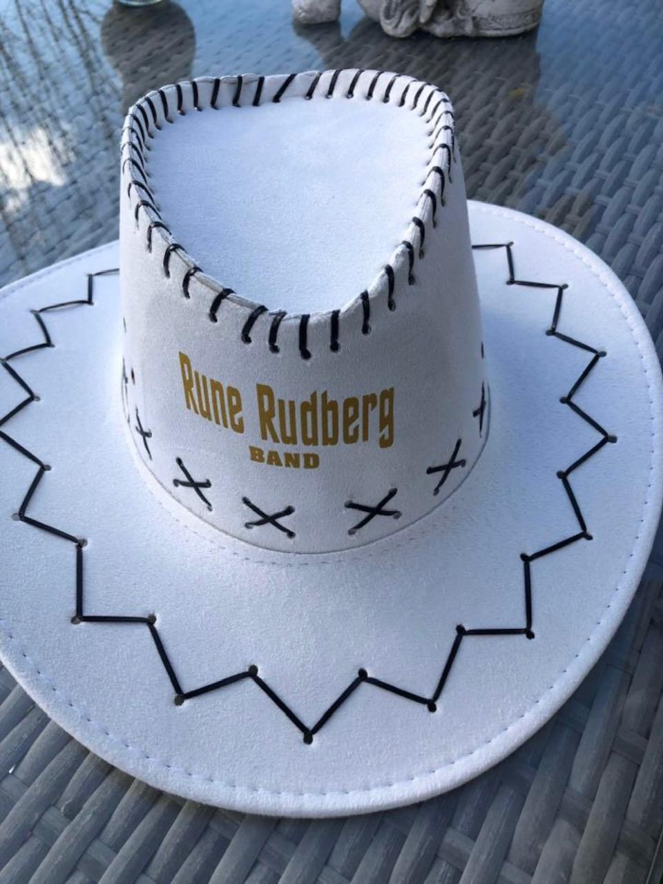 Cowboyhatt, hvit