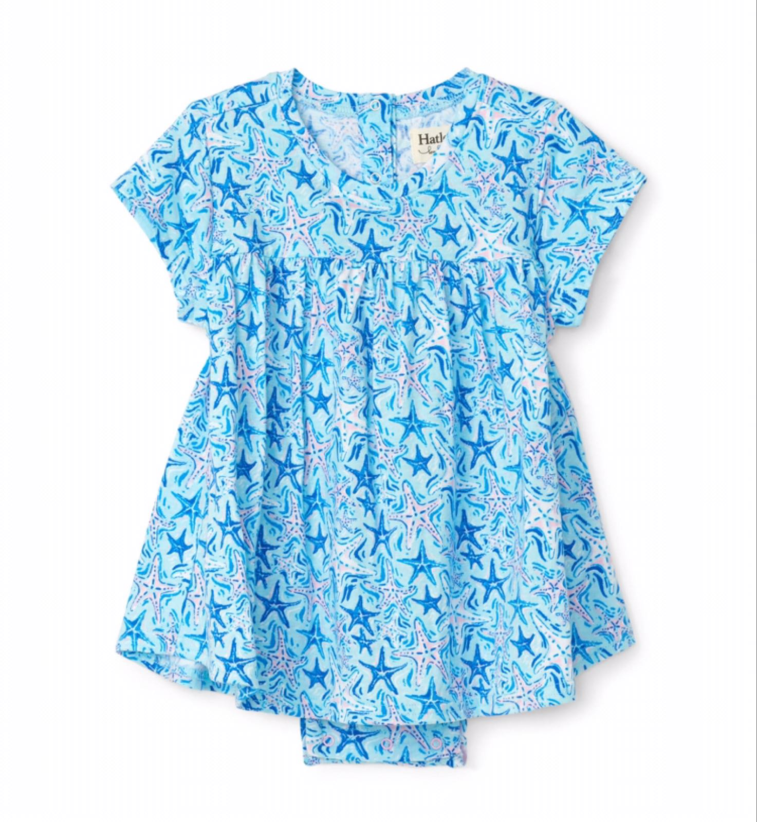 Hatley Soft Starfish Baby One-piece Dress