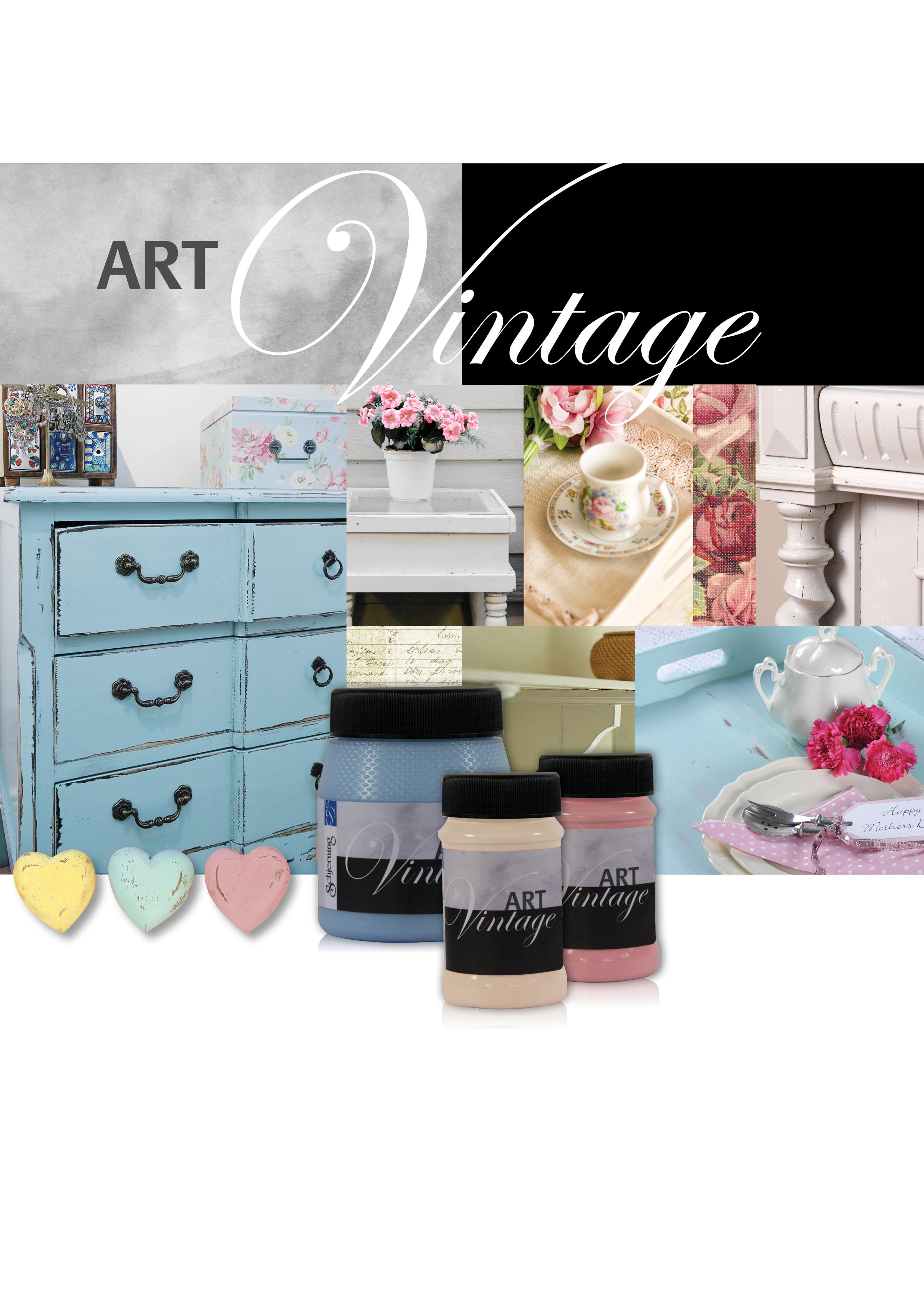 Schjerning Kalkfarbe Art Vintage Vanille