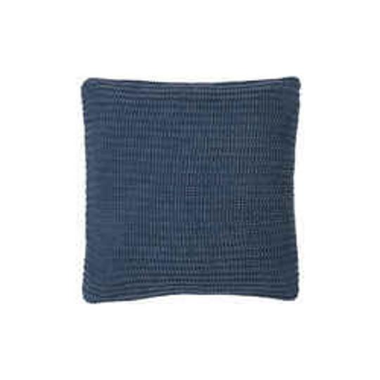 IB Laursen Kissenbezug dunkelblau gestrickt