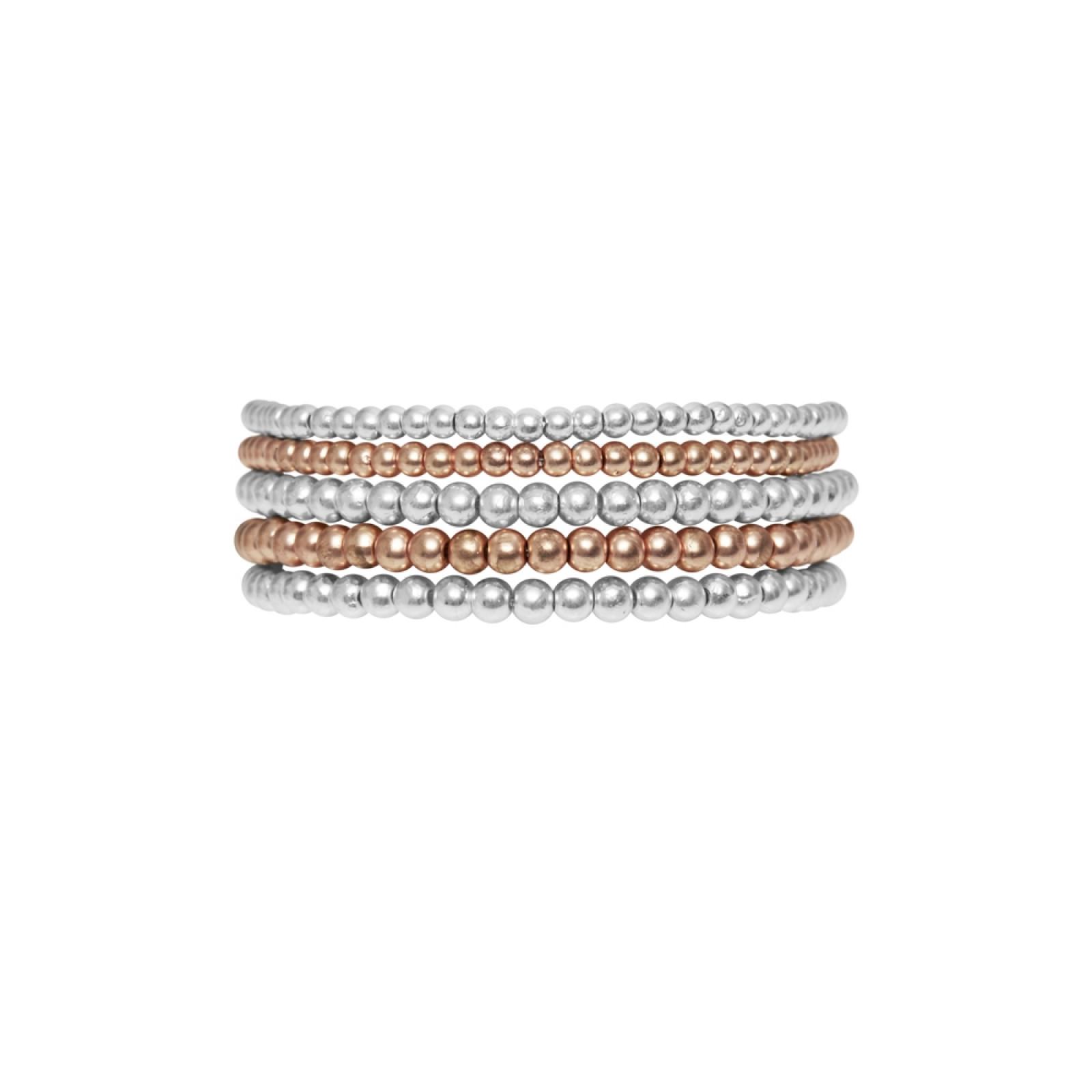 Armband 2 in 1 Rhodiniert