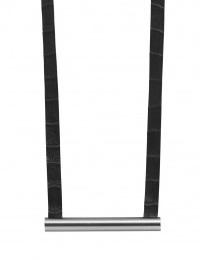 Halskette Schwarz Lederband Metallstab