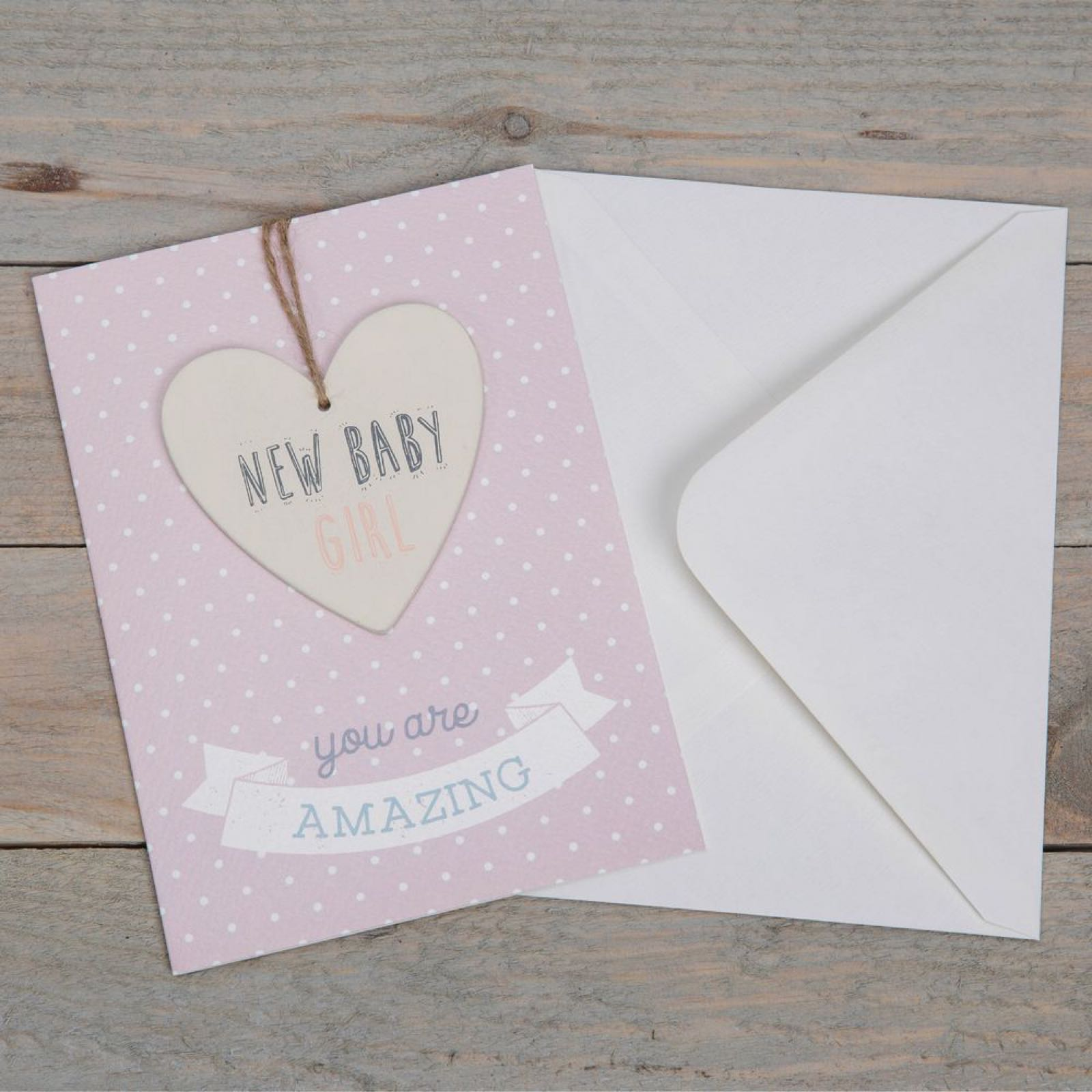 New Baby Girl Greeting Card & Plaque