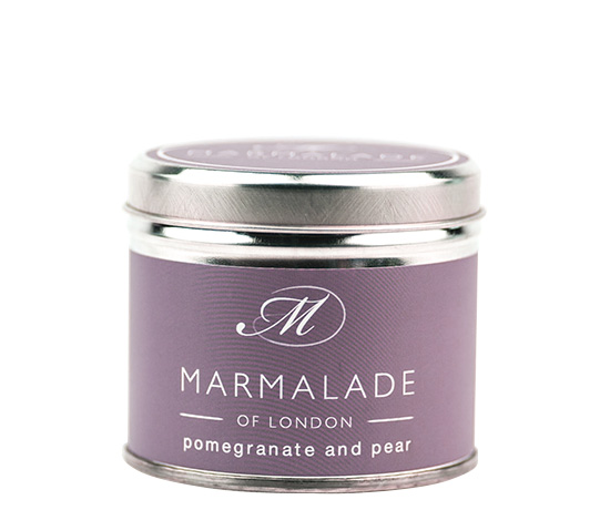 00173 Pomegranate & Pear tin candle