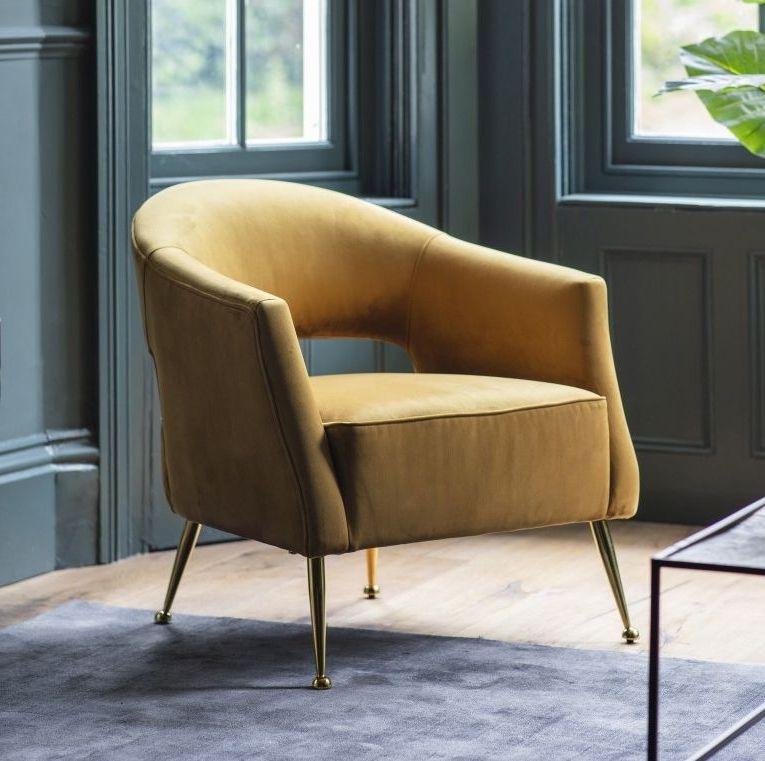 00756 Luxury velvet chair