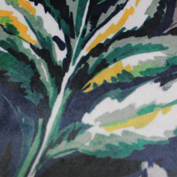 0007 Navy floral velvet cushion