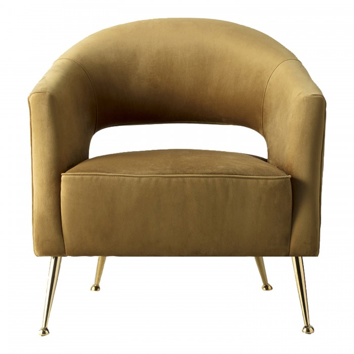 00756 Luxury velvet chair