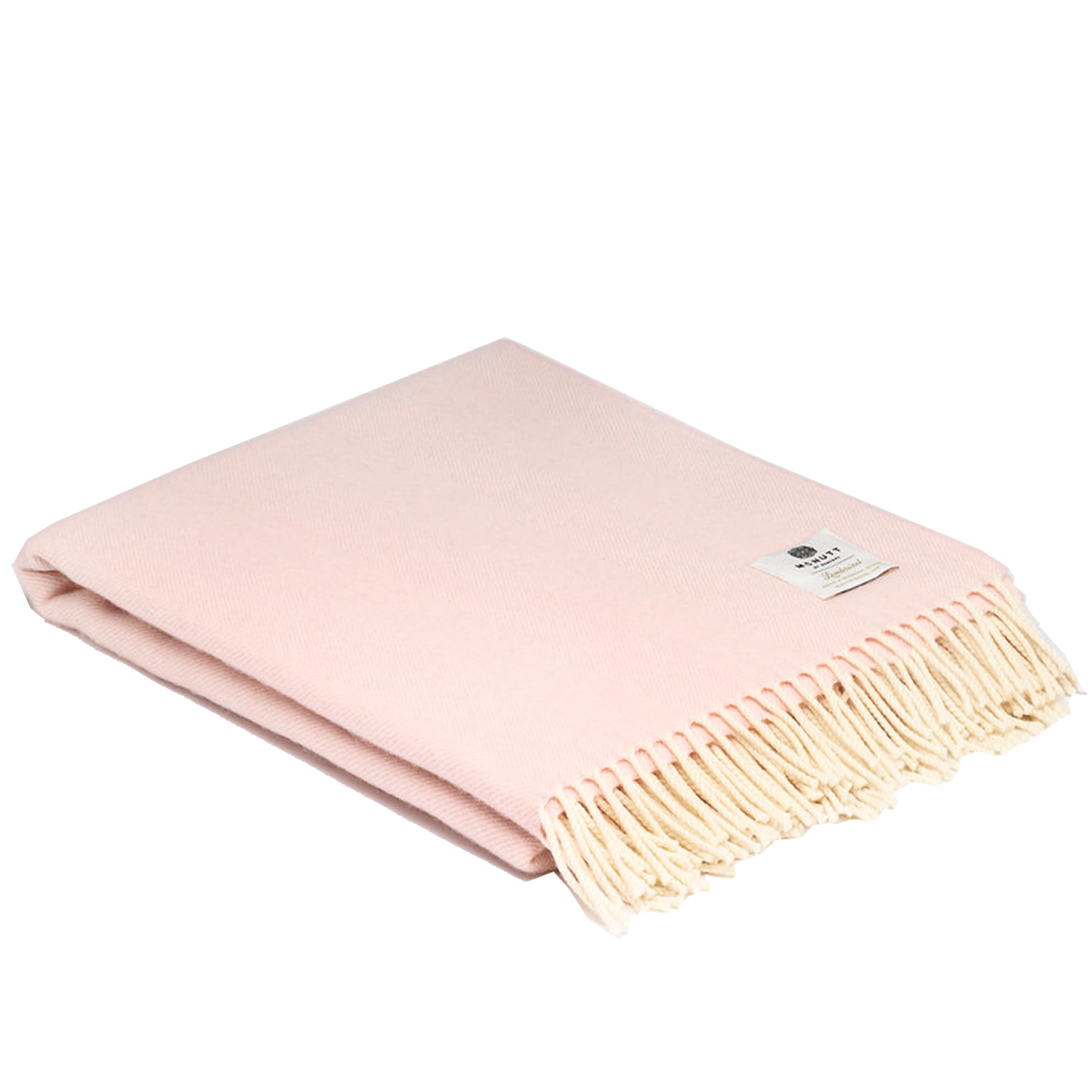 00327 McNutt of Donegal Soft Pink Super soft lambswool throw