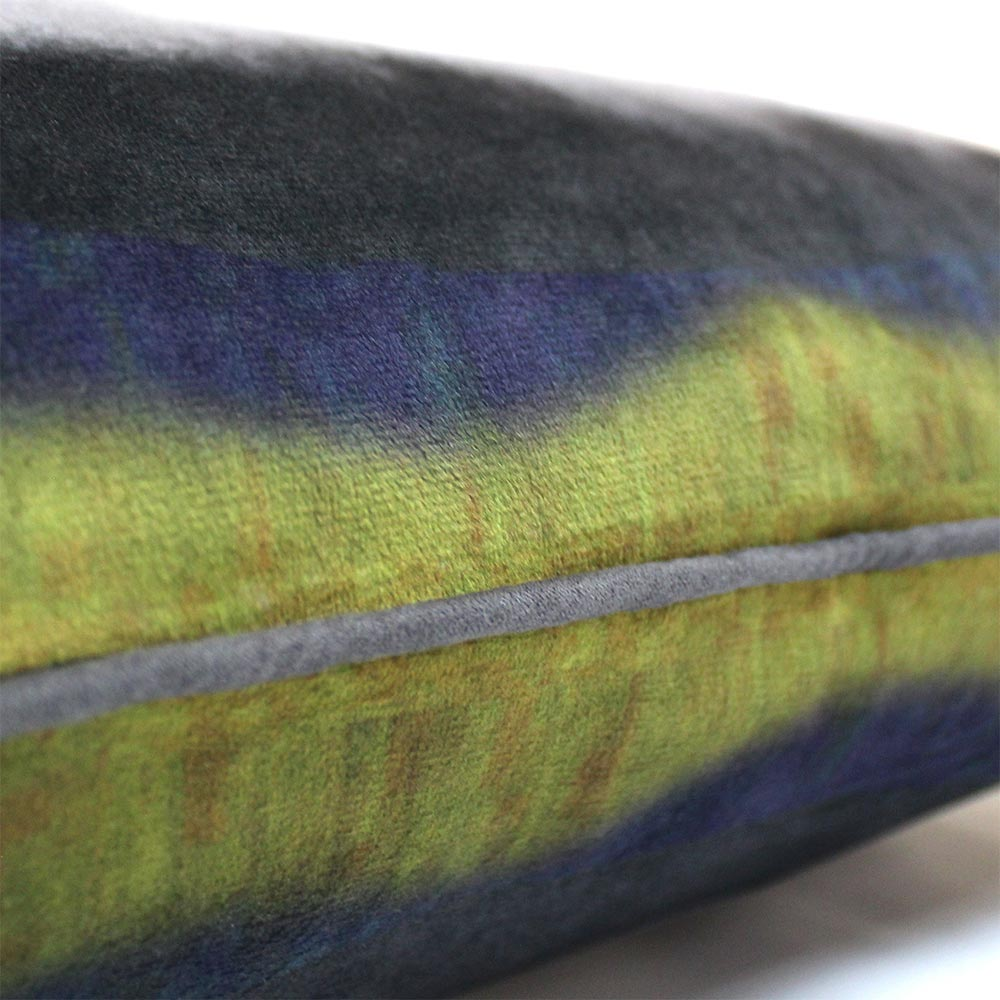0001 Velvet abstract cushion
