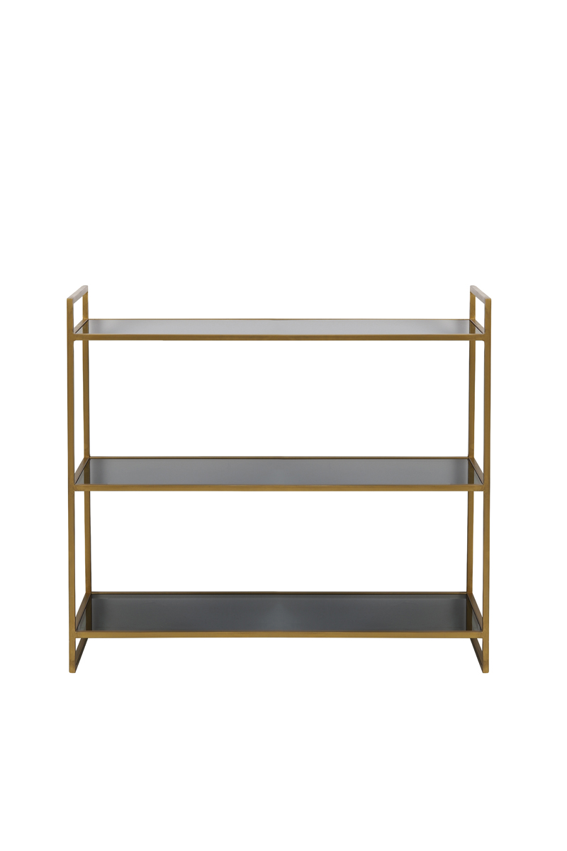1375 Black/gold low shelves