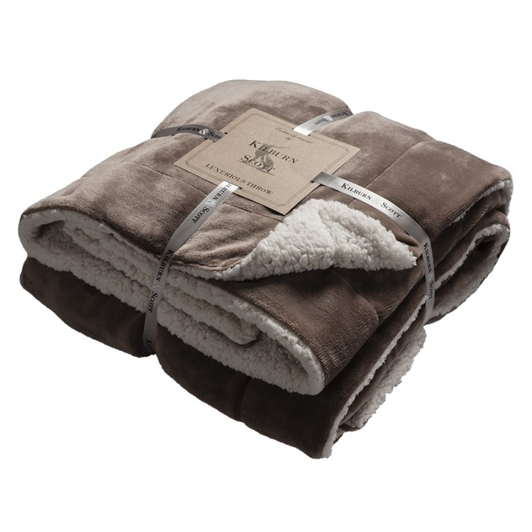 00380 Sherpa throw taupe special offer