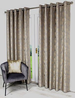 1327 Champagnr curtains 90x90""