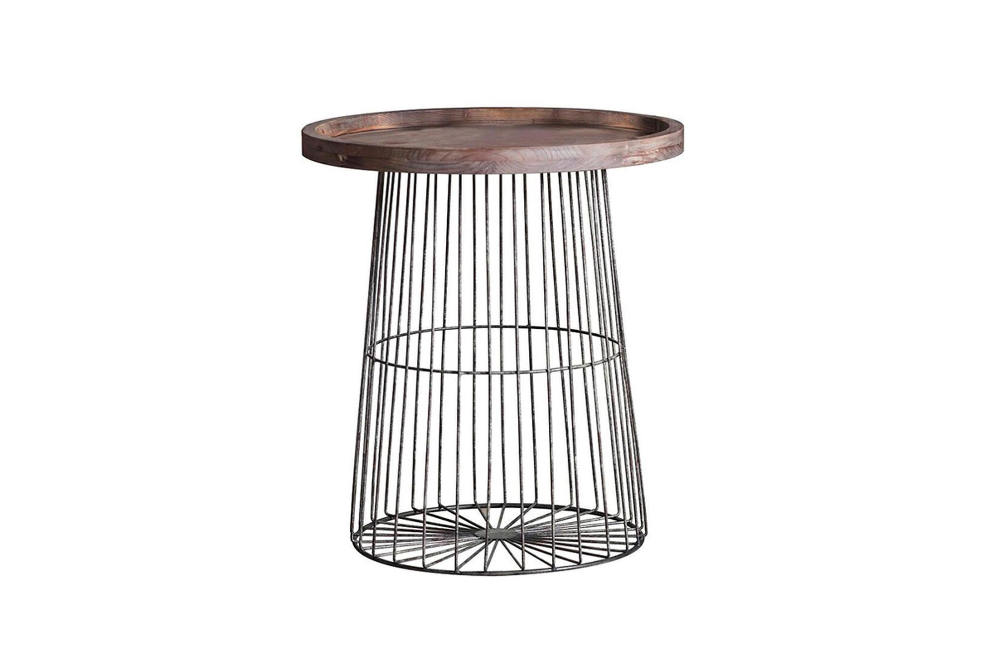 1815 Metal / wood side table