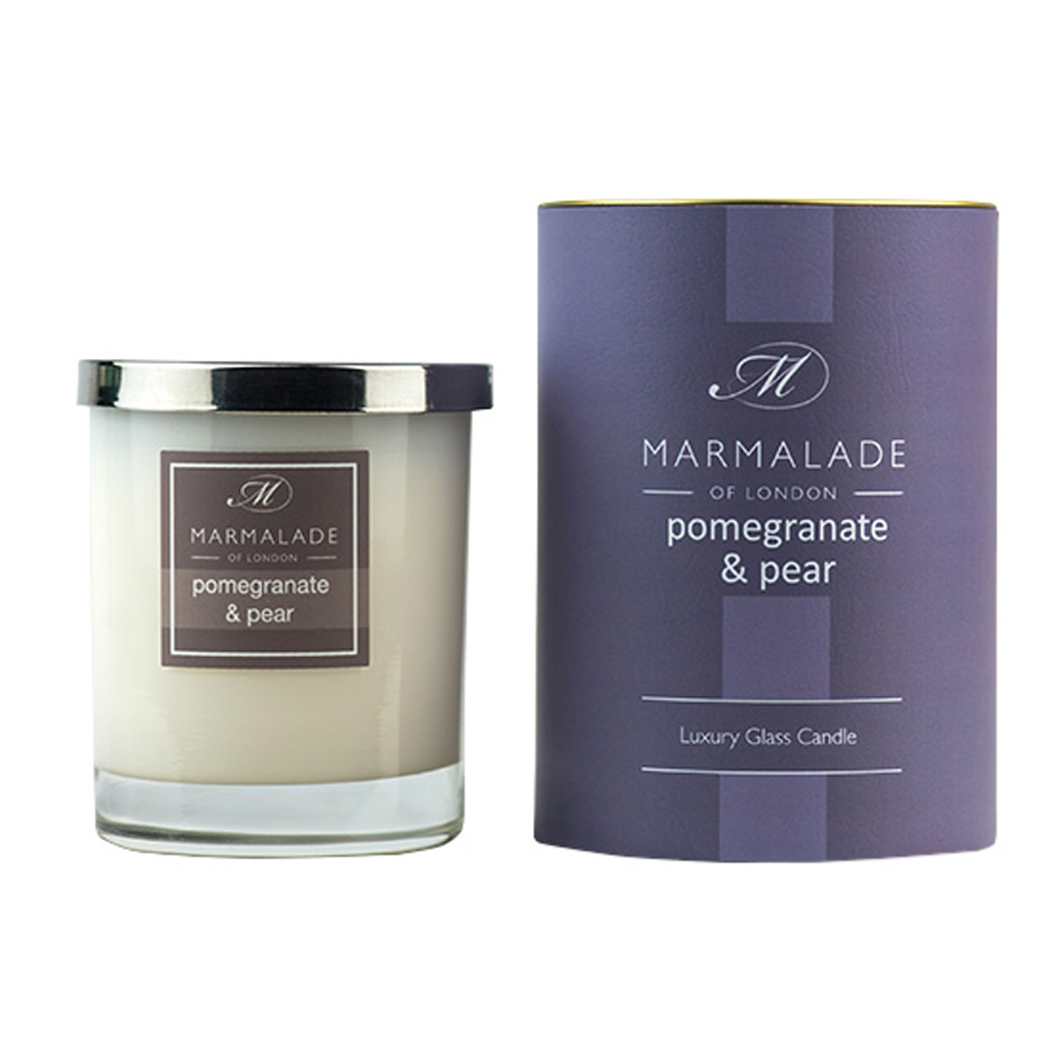 00174 Pomegranate and pear glass candle