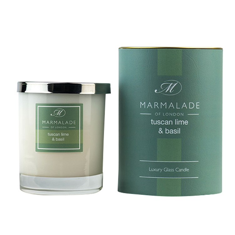 00174 Tuscan Lime & Basil Glass candle