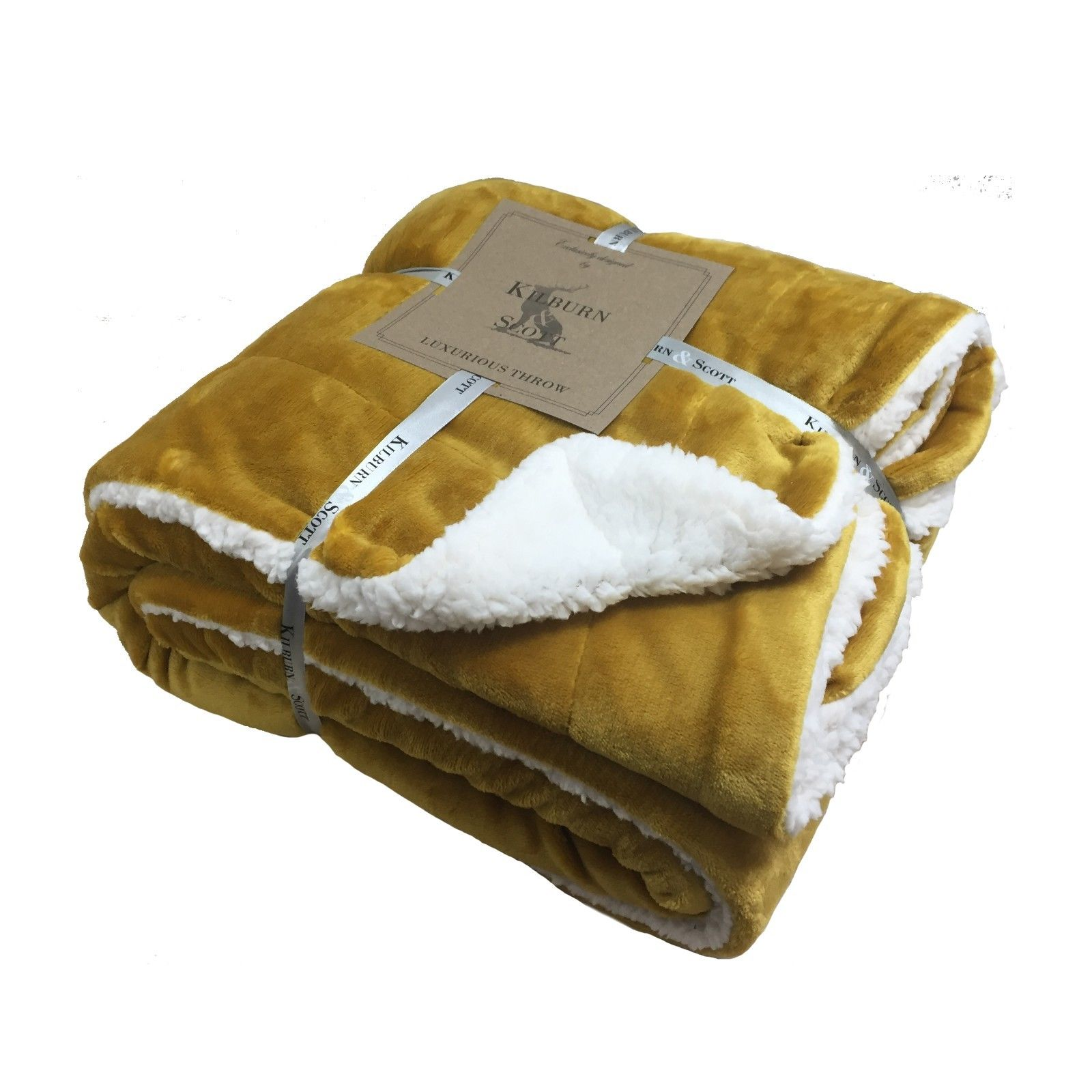 00381 Sherpa throw ochre special offer