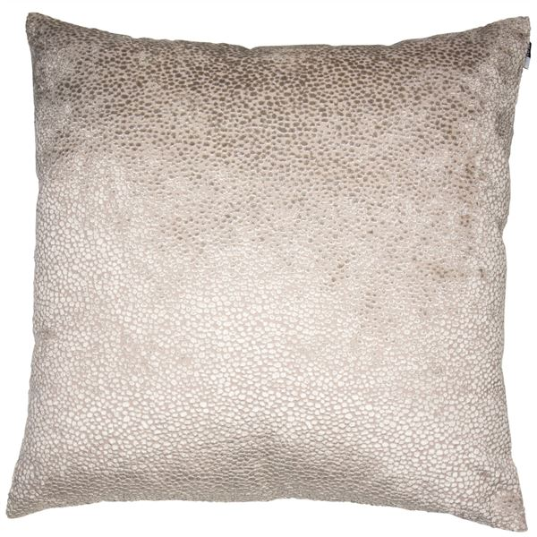 00522 Large velvet dot textured cushion taupe