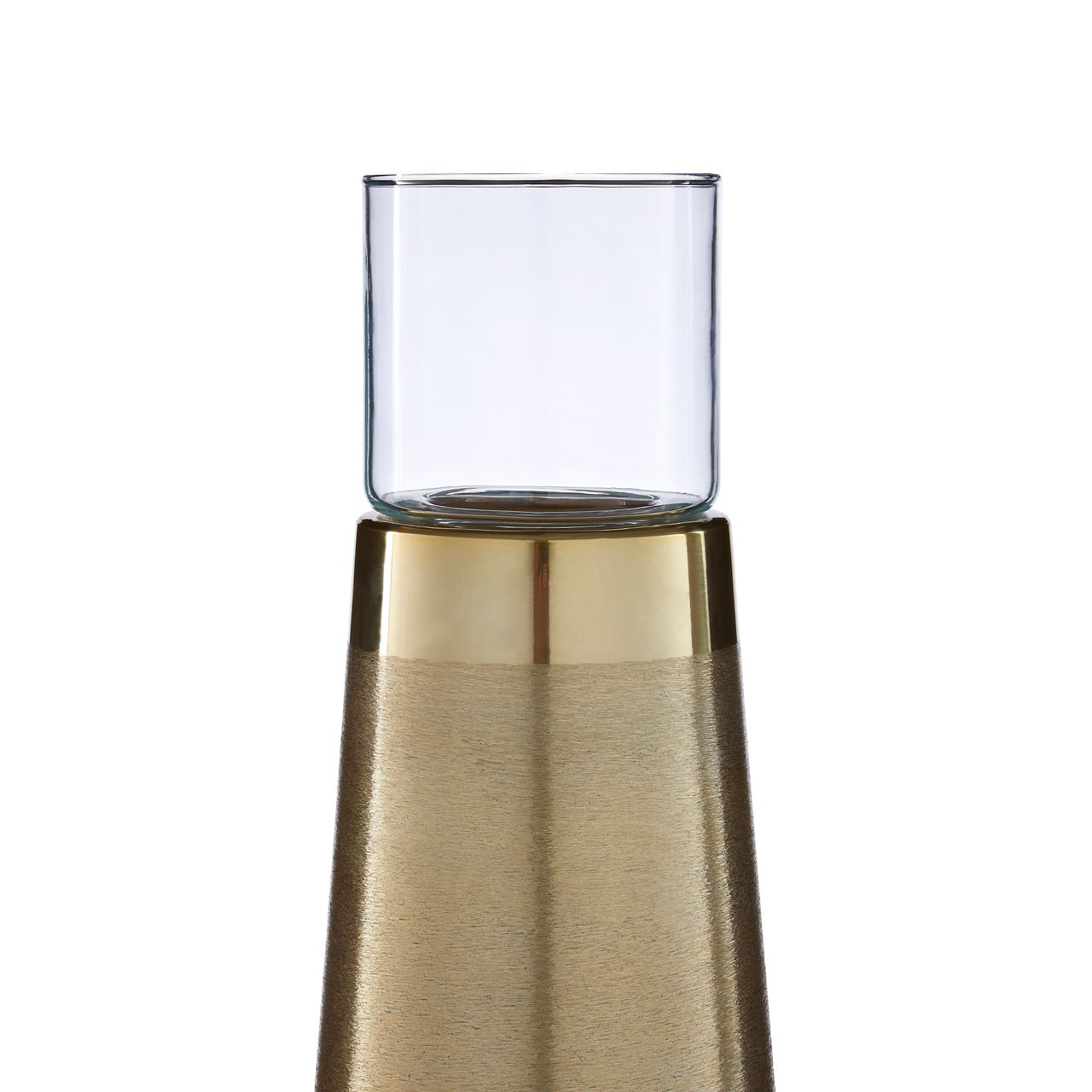 0815 Small brass candle holder
