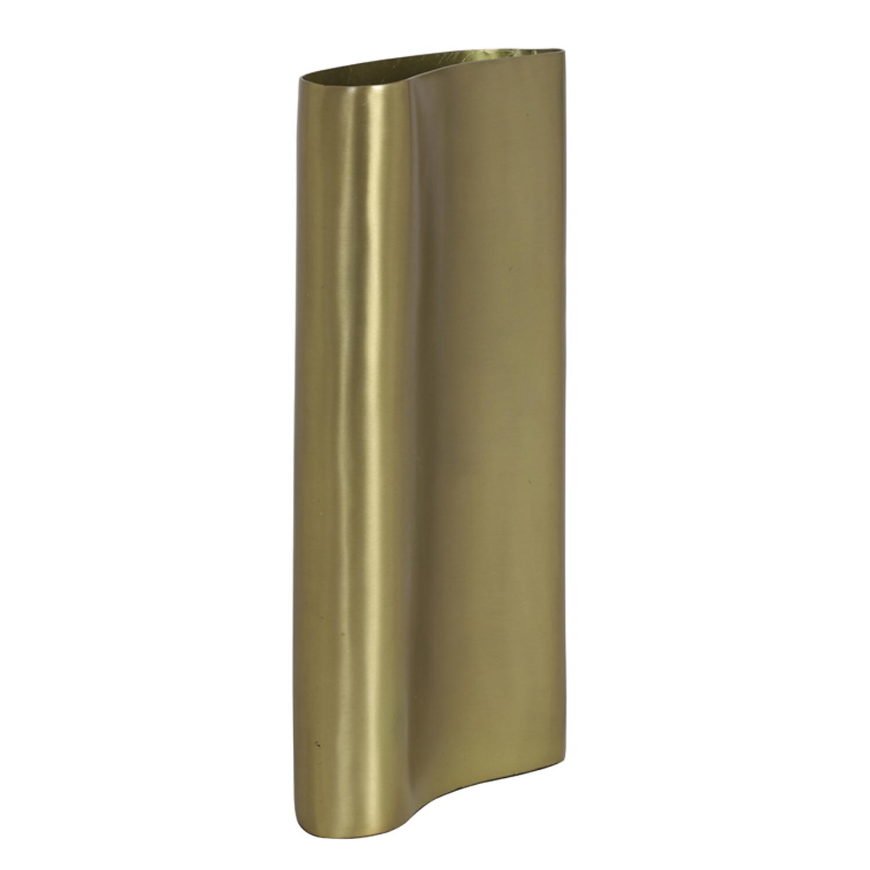 1366 Brass slim metal vase (tall)