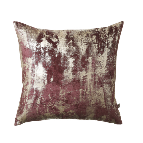 1318 Abstract raspberry/gold cushion