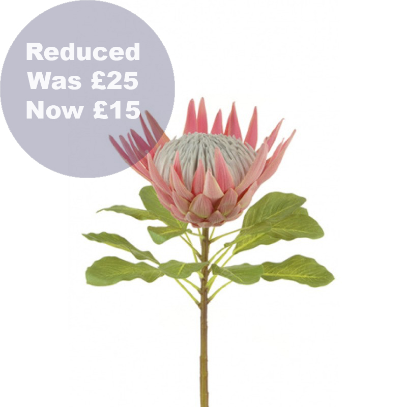 0015 King Protea faux flower stem