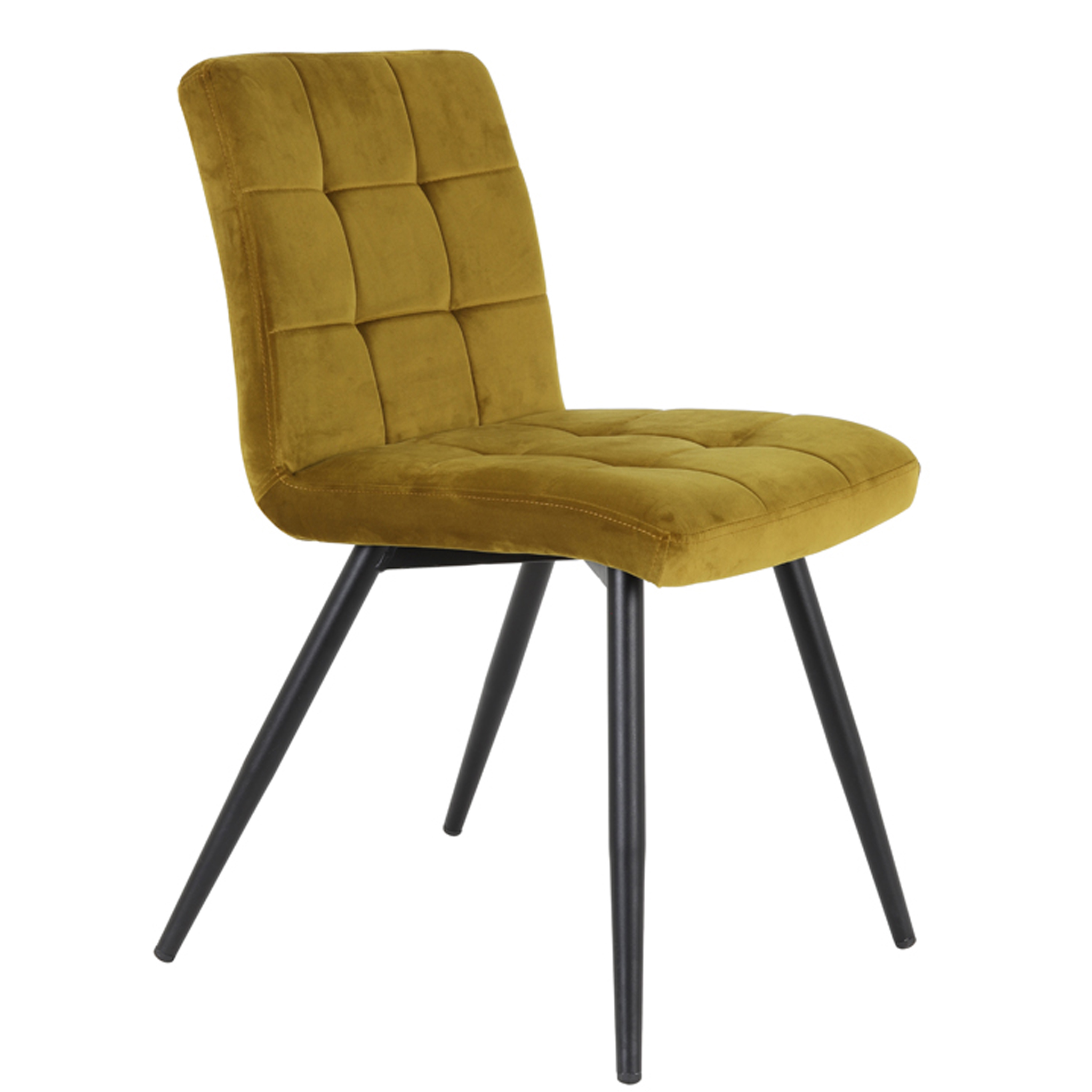 0016 Ochre velvet chair
