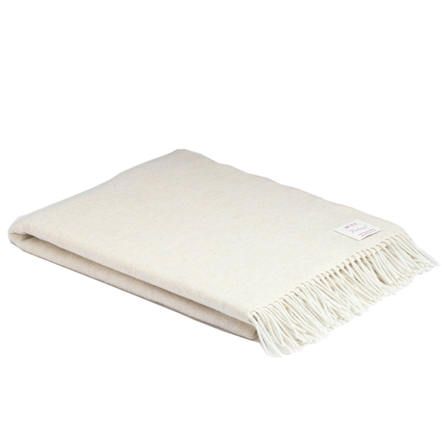 00327 McNutt of Donegal Cream Supersoft lambswool throw