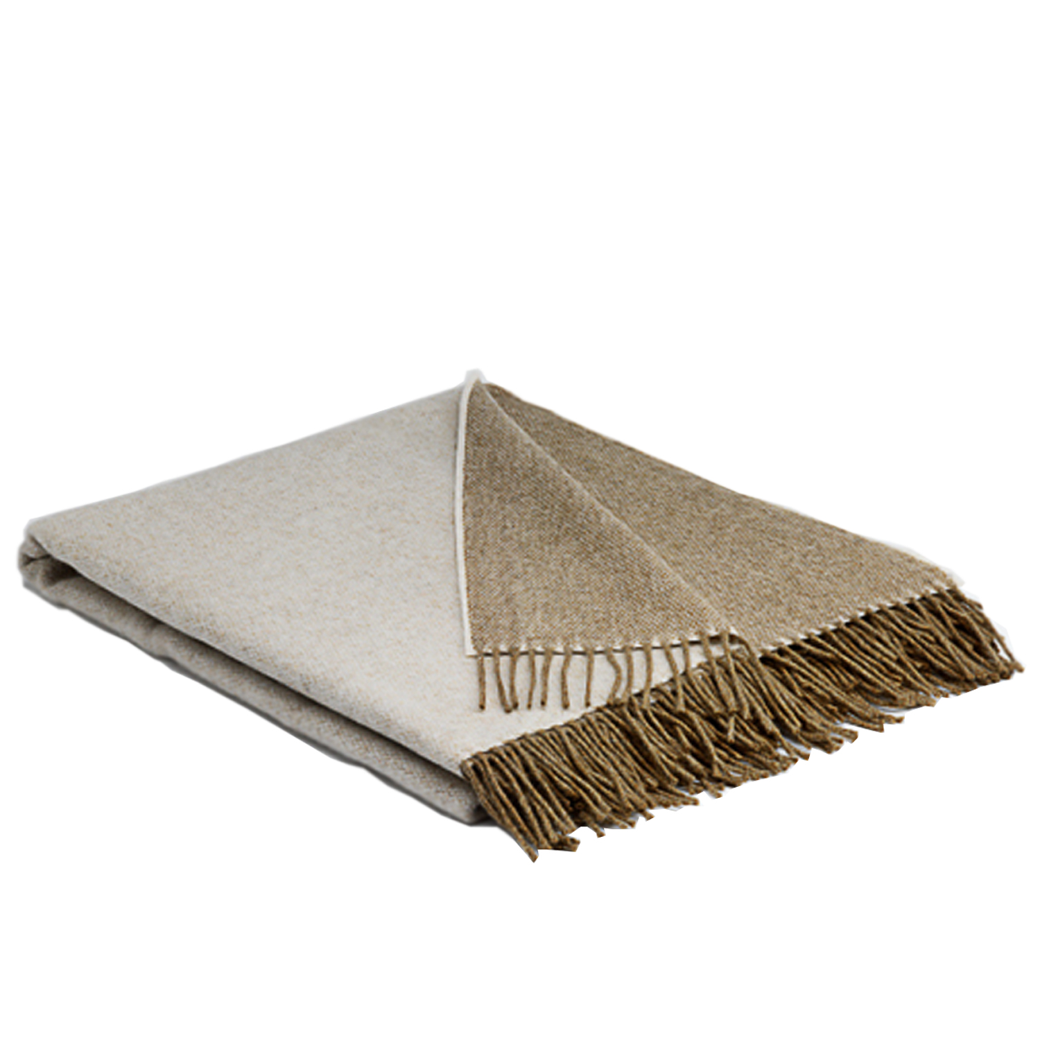 00327 McNutt of Donegal Latte Reversible Supersoft lambswool throw