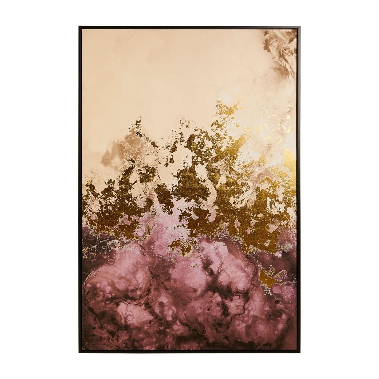 1208 Pink & gold artwork