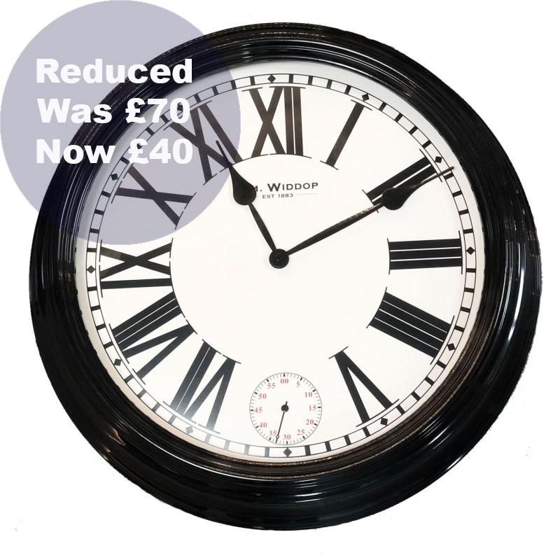 0073 Black metal wall clock