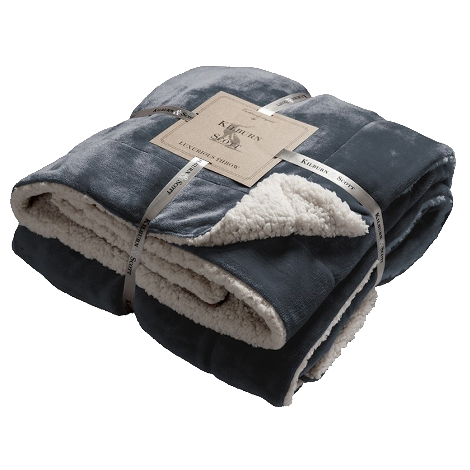 00480 Sherpa navy throw special offer